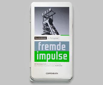 """Reiseführerbox """"Fremde Impulse - Baudenkmale im Ruhrgebiet"""""""