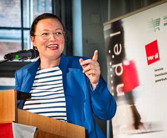 Andrea Nahles. Foto Dietrich Hackenberg