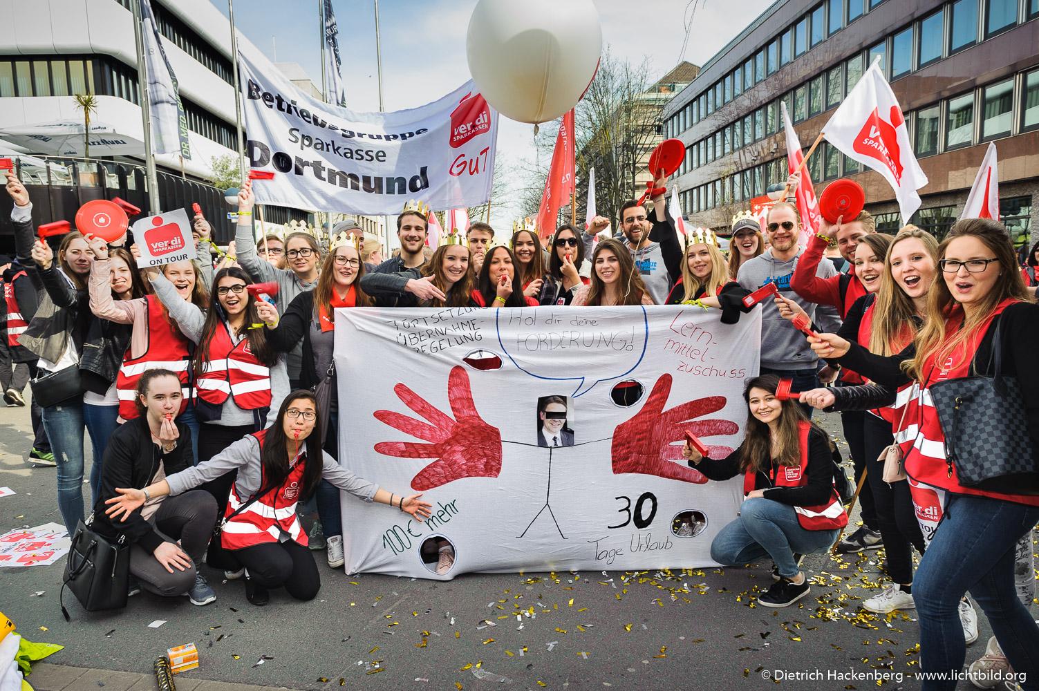 verdi Jugend. verdi Streikveranstaltung Öffentlicher Dienst, Dortmund am 10.04.2018