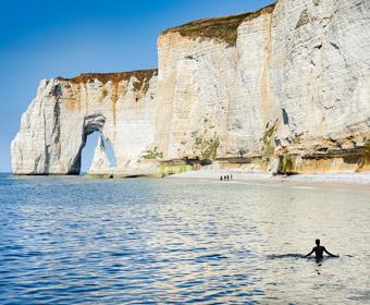 Kalkfelsen Etretat, Normandie. Foto © Dietrich Hackenberg