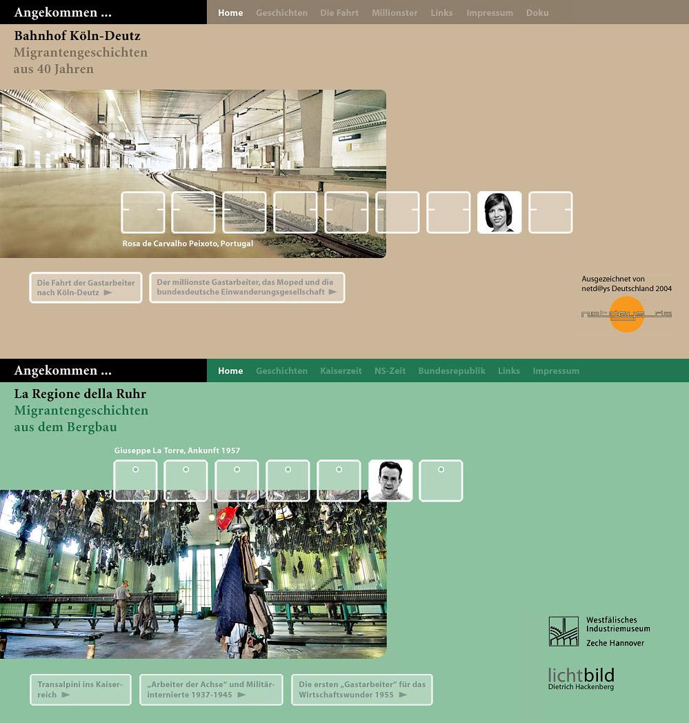 Screenshots Webseiten angekommen...