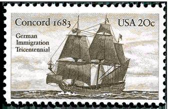 Briefmarke Concord