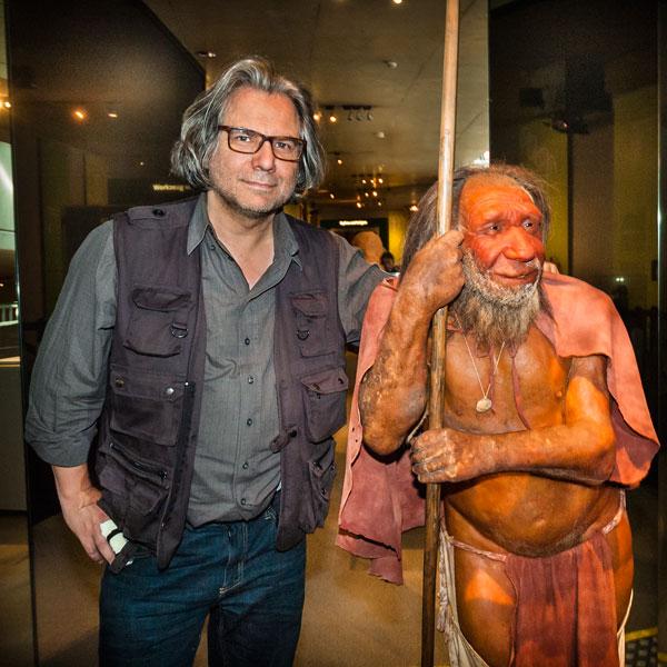Zwei Rheinländer, Neandertal-Museum, Mettmann. Foto Leonard Hackenberg