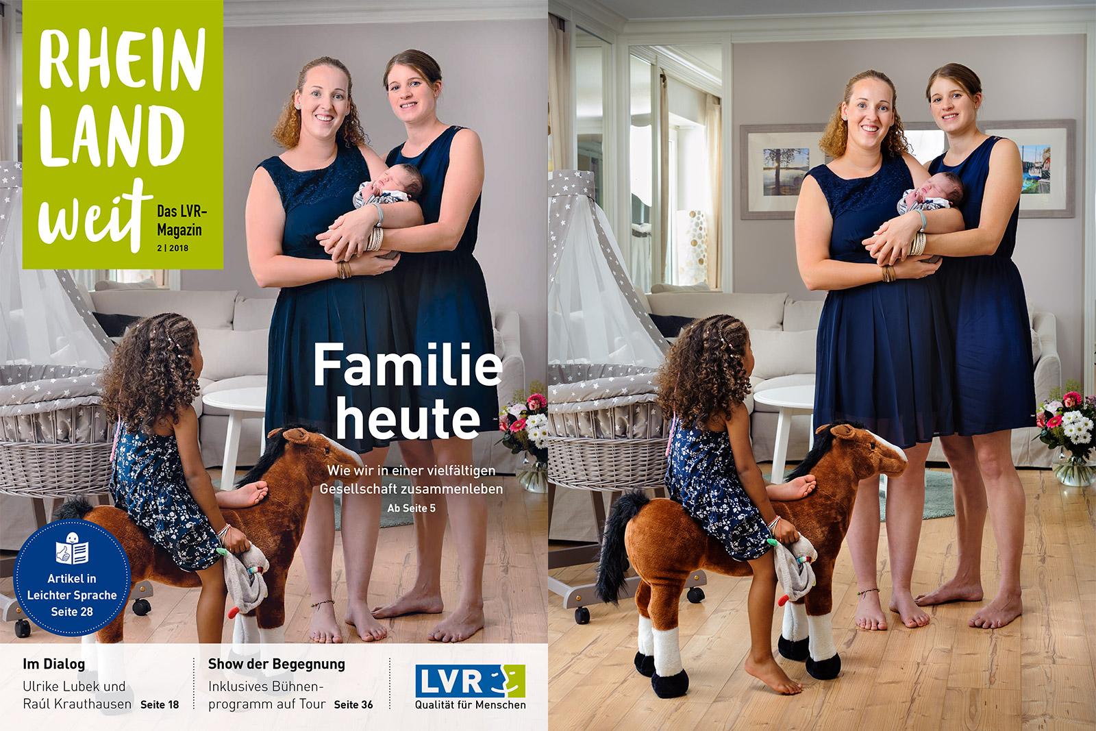 Titelbild für das LVR-Magazin Rheinlandweit: Familie heute – Wie wir in einer vielfältigen Gesellschaft zusammenleben. Foto © Dietrich Hackenberg