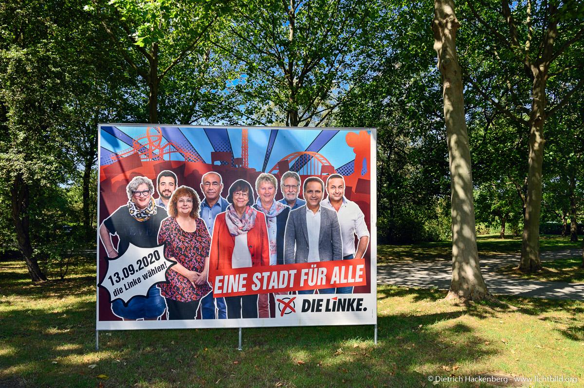 Wahlplakat - DIE LINKE Duisburg - Gruppenbild an der Duisburger Straße