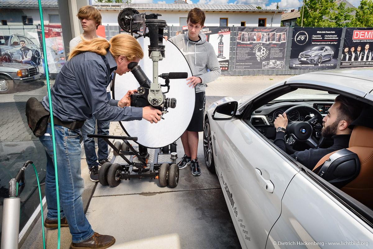Szenegetränk Werbedreh, Making of — Foto © Dietrich Hackenberg