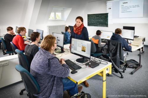 Computerraum - Vinzenzheim Aachen. Foto © Dietrich Hackenberg
