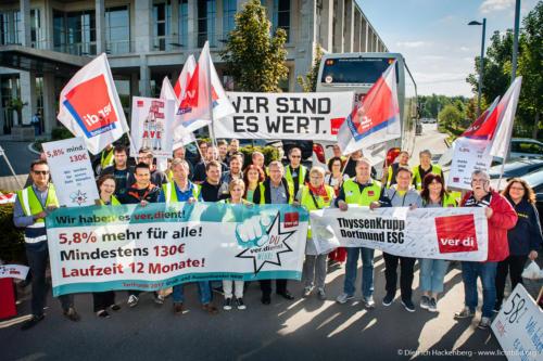 2. Tarifverhandlung Groß- und Außenhandel NRW. Foto Dietrich Hackenberg
