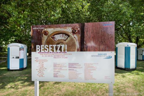 Ausstellung BESETZT im Niederrhein-Stadion Oberhausen. Foto © Dietrich Hackenberg