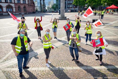 ver.di Handel NRW, Streikveranstaltung Friedensplatz Dortmund am 16.06.2021. Foto Dietrich Hackenberg