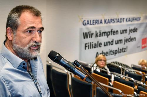 verdi Handel NRW Betriebsräte-Versammlung Essen zur Schließung der Galeria Karstadt Kaufhof Filialen - Foto © Dietrich Hackenberg