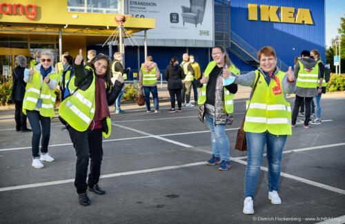verdi Handel Streik IKEA-Dortmund-Kley. Foto Dietrich Hackenberg