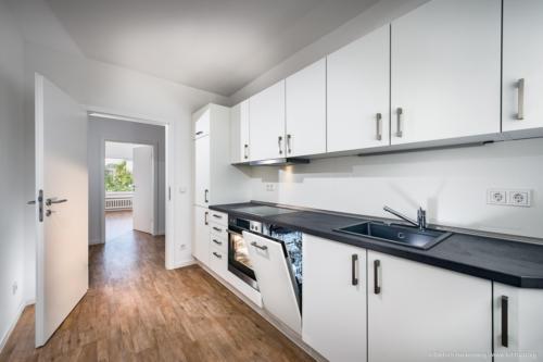 Küche, Mietwohnung Brühl. Foto © Dietrich Hackenberg