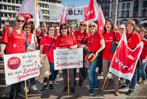 Streikveranstaltung in Dortmund Soziale Berufe Aufwerten. Foto Dietrich Hackenberg