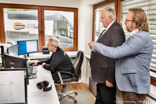 Tischlerei Formsache Bielefeld. Digitalisierungstour von Arbeitsminister Laumann. Foto © Dietrich Hackenberg
