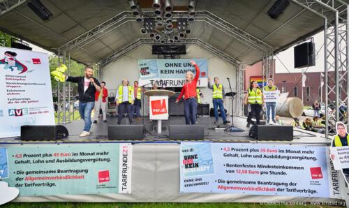 ver.di Handel NRW, Streikveranstaltung Groß- und Einzelhandel vor dem Bergbaumuseum in Bochum 24.06.2021. Foto Dietrich Hackenberg