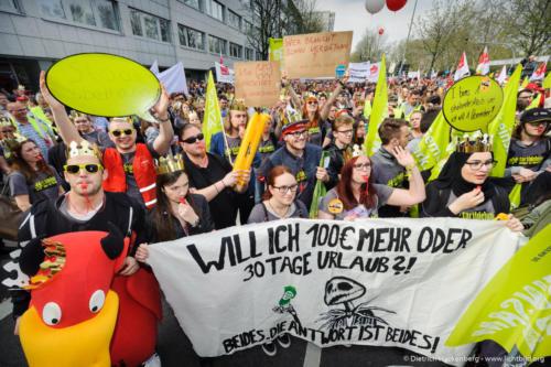 verdi Jugend. verdi Streikveranstaltung Öffentlicher Dienst, Dortmund am 10.04.2018. Foto Dietrich Hackenberg