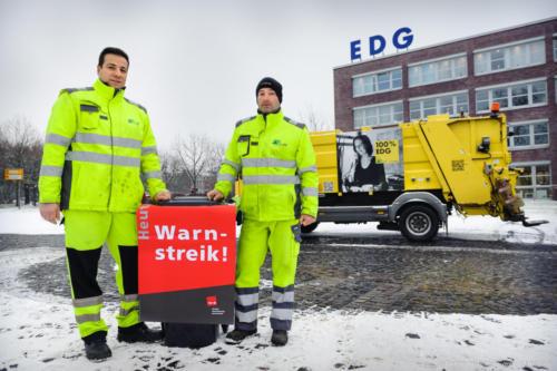 Warnstreik des öffentlichen Dienstes am 20.03.2018. EDG. Foto © Dietrich Hackenberg