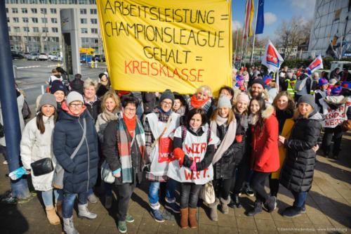 Warnstreik des öffentlichen Dienstes am 20.03.2018 - Erzieherinnen. Foto © Dietrich Hackenberg
