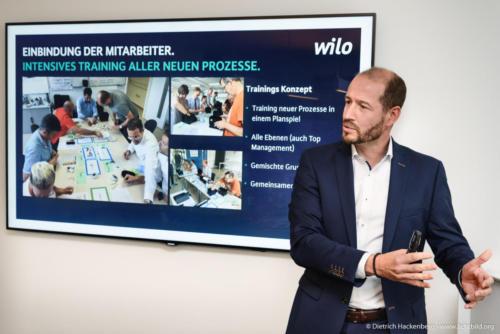 Wilo SE, Dortmund. Digitalisierungstour von Arbeitsminister Laumann. Foto © Dietrich Hackenberg